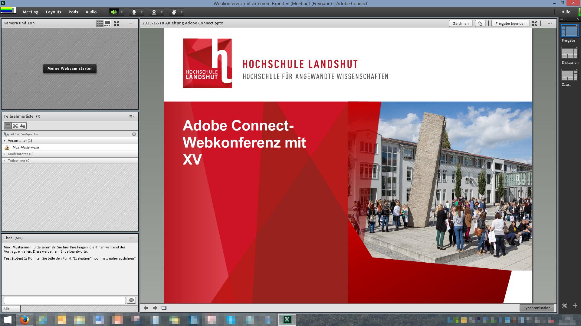 Beispiel Adobe Connect